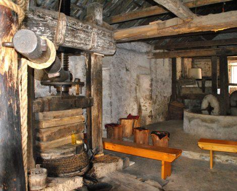 The mill's interior